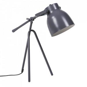 Lampa birou gri din metal 60 cm Otos Somcasa