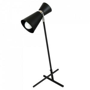Lampa birou neagra/argintie din metal 64 cm Kedar Aldex