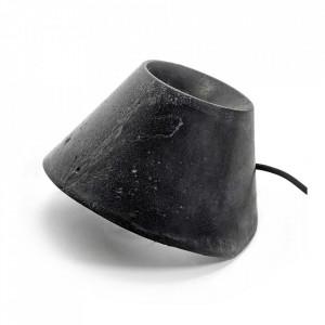 Lampa neagra din beton pentru exterior 35 cm Eaunophe Serax
