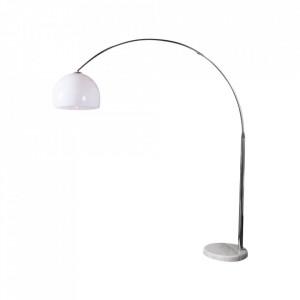 Lampadar ajustabil alb din metal si plastic 185-205 cm Big Bow Invicta Interior