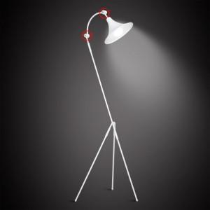 Lampadar alb din metal 163 cm Antika Aldex