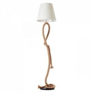 Lampadar alb/maro din textil 175 cm Sailor Brilliant