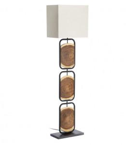 Lampadar maro/alb din lemn de salcam si otel 168 cm Esther Kave Home