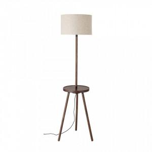Lampadar maro din lemn de frasin si in 162 cm Lukwati Bloomingville