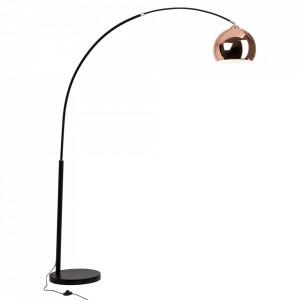 Lampadar negru/aramiu din metal 202 cm Nereide Brilliant