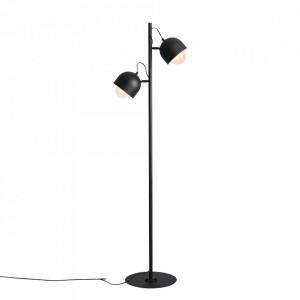 Lampadar negru din metal cu 2 becuri 161 cm Beryl Aldex