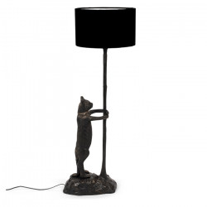 Lampadar negru din metal si poliester 108 cm No Girlfriend No Problem Bold Monkey