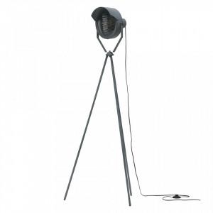 Lampadar negru din otel 155 cm Lester Woood