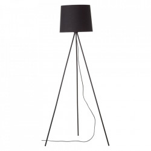 Lampadar negru din textil si metal 144 cm Ailey Brilliant