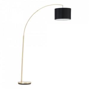Lampadar negru/maro alama din metal si textil 177,5 cm Clarie Brilliant