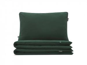 Lenjerie de pat verde din bumbac Basic Green Single Mumla (diverse dimensiuni)