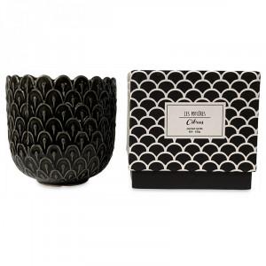 Lumanare parfumata cu suport gri din ceramica 11 cm Alkeides Opjet Paris