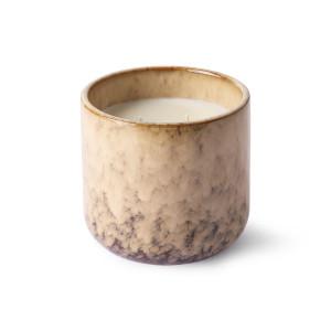 Lumanare parfumata cu suport maro/bej din ceramica si ceara 10 cm Casa Fruits HK Living