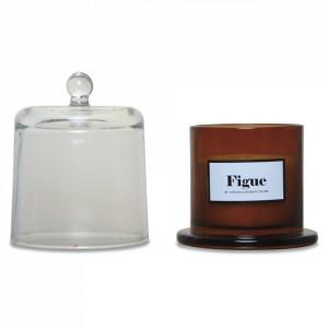 Lumanare parfumata cu suport maro chihlimbar/transparent din sticla 11 cm Woody Fig Opjet Paris