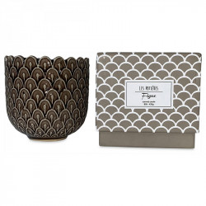 Lumanare parfumata cu suport maro din ceramica 11 cm Alkeides Opjet Paris
