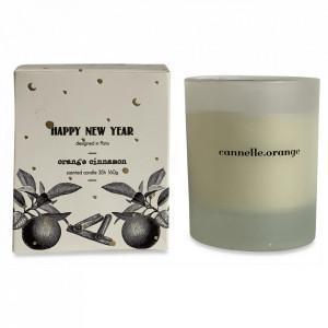 Lumanare parfumata cu suport transparent din sticla 9 cm Cinnamon Orange Opjet Paris
