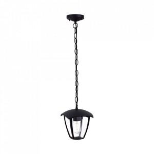 Lustra pentru exterior neagra din aluminiu Fox Noite Milagro Lighting