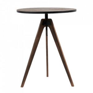 Masa bar ajustabila maro din lemn si metal 75 cm The Whyte Riviera Maison