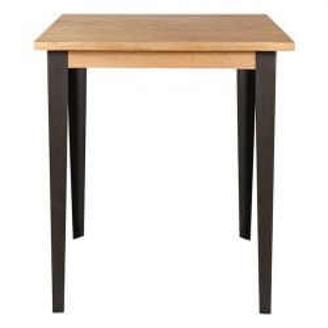 Masa bar maro/negru din lemn de stejar si metal 90x90 cm Manhattan Zago