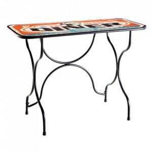 Masa bar multicolora din metal 47,5x76 cm Diner Ixia