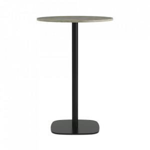 Masa bar neagra/bej nisipiu din marmura 70 cm Form Normann Copenhagen