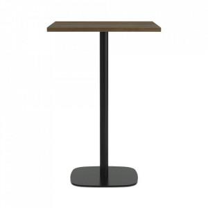 Masa bar neagra/maro inchis din lemn si otel 70x70 cm Form Normann Copenhagen