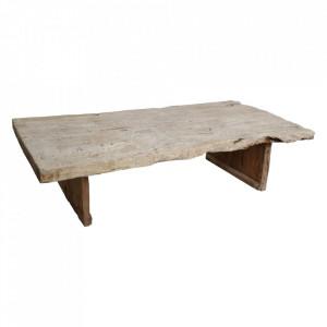 Masa de cafea maro din lemn 102x185 cm Nanded Raw Materials