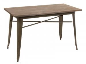 Masa din lemn de fag si fier 60x120 cm Copper Santiago Pons