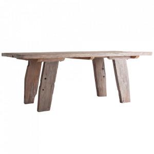 Masa dining crem din lemn de mango 100x200 cm Hassi Vical Home