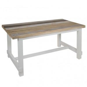 Masa dining maro/alba din lemn mindi 90x160 cm Rabat Santiago Pons