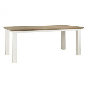 Masa dining maro/alba din MDF si lemn 100x220 cm Cardiff Table Maxi Richmond Interiors