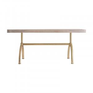 Masa dining maro/auriu din lemn si fier 90x180 cm Lure Vical Home