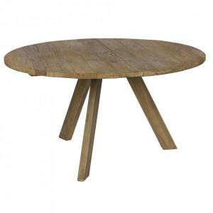 Masa dining maro din lemn de ulm 140 cm Tondo Be Pure Home