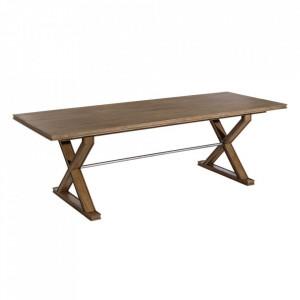 Masa dining maro din lemn mindi si MDF 90x240 cm Mateo Denzzo