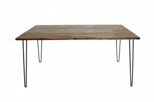 Masa dining maro din lemn si metal 80x160 cm Scorpion Invicta Interior