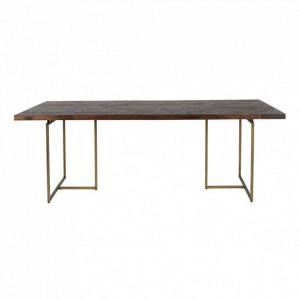 Masa dining maro/maro alama din lemn si metal 110x240 cm Class Dutchbone