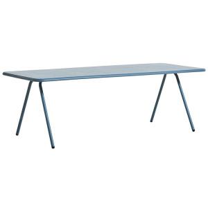 Masa dining pentru exterior albastra din aluminiu 85x220 cm Ray Woud