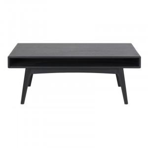 Masa neagra din lemn si MDF pentru cafea 70x130 cm Marte Actona Company