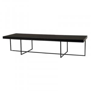 Masa neagra din placaj si fier pentru cafea 60x180 cm Burlington Lifestyle Home Collection