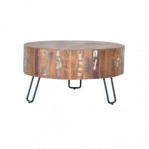 Masuta multicolora din lemn si metal 70 cm Ricon Giner y Colomer
