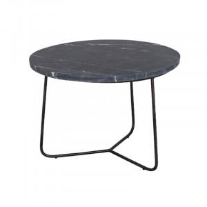 Masuta neagra din marmura si metal pentru cafea 50 cm Minnesota Lifestyle Home Collection
