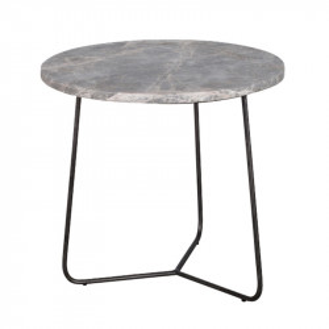 Masuta neagra/gri din marmura si metal pentru cafea 45 cm Minnesota Lifestyle Home Collection
