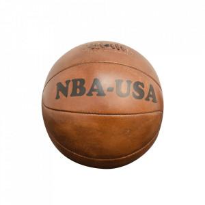 Minge decorativa maro din piele 25 cm Basketball Versmissen
