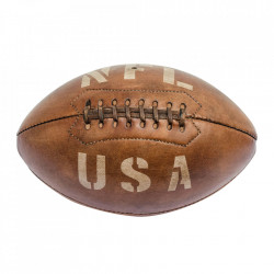 Minge decorativa maro din piele 27 cm Football USA Versmissen