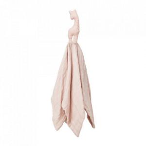Muselina roz din bumbac Giraffe Blossom Pink Cam Cam
