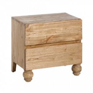 Noptiera din lemn mindi cu 2 sertare Mariela Ixia