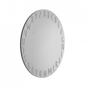 Oglinda argintie din sticla si MDF 50 cm Keilar Kave Home