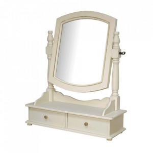 Oglinda cu sertare din lemn de plop si MDF 49x56 cm Rimini Livin Hill