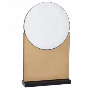 Oglinda de masa auriu sampanie din sticla 20x35 cm Disco Opjet Paris