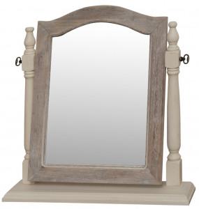Oglinda de masa din lemn de plop si MDF 55x55 cm Pesaro Livin Hill